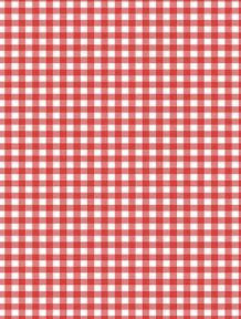 5 x A4 Red Gingham Card Stock, Size:- Large - GING19